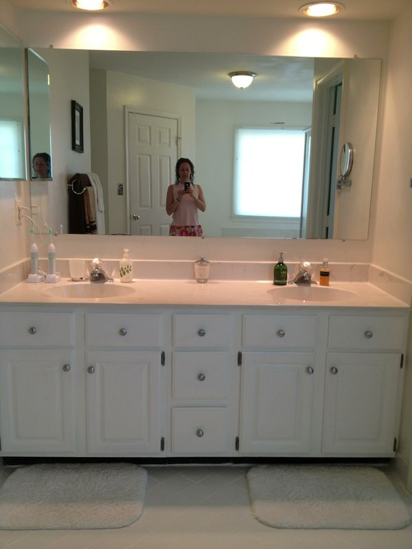 The Big Reveal: Master Bathroom Cabinets #DIY - Life is in ...