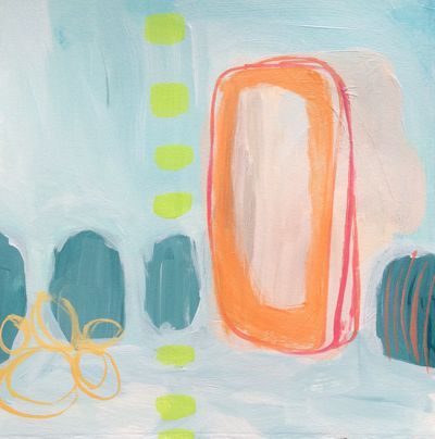 50 Stacked in Your Favor - Original Abstract Painting - Lisa Cohen