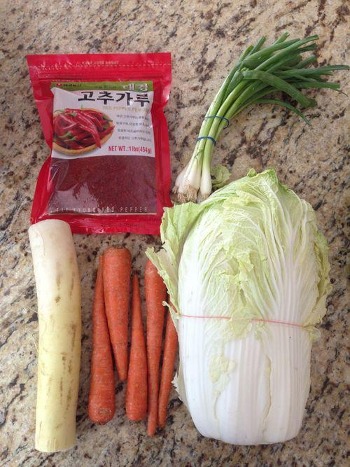 Kimchi ingredient roundup
