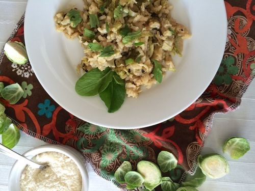 Brussels sprouts risotto Ottolenghi Plenty More 1