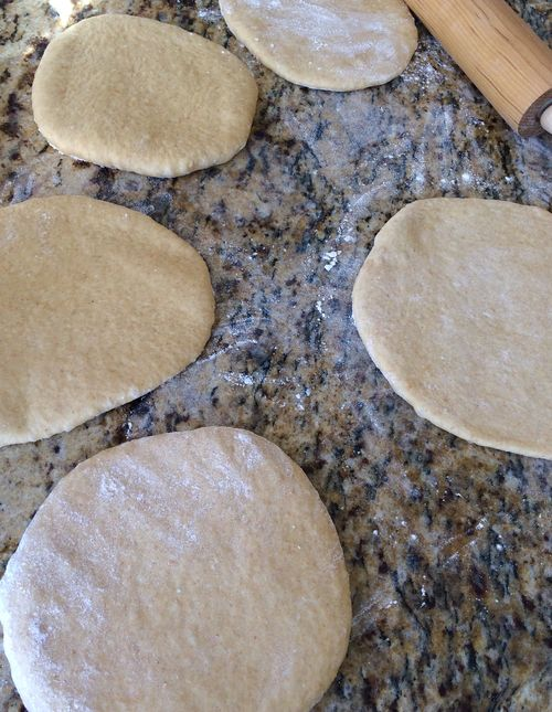 Savory Snowflake Bread Rolled Out Dough Circles