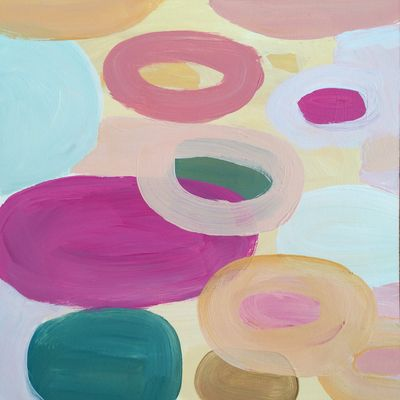 59 Bubbling Up - Original Floral Abstract Expressionist Painting - Lisa Cohen