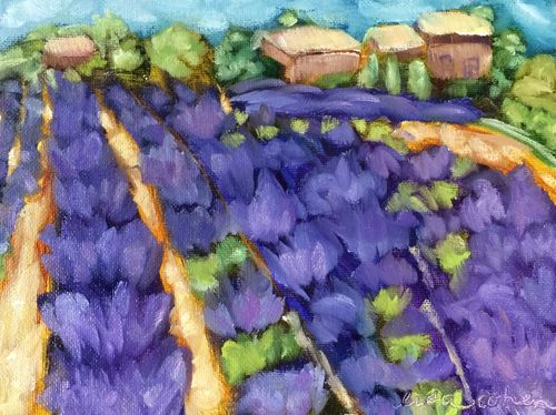 118 Fields of Lavender - Expressive Oil Painting - Lisa Cohen