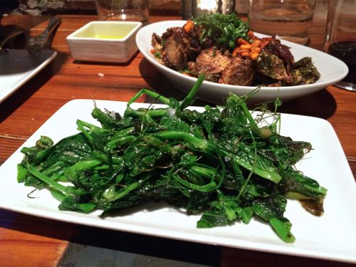 Estadio Garlic Pea Shoots