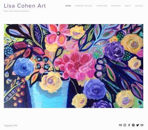 Lisa Cohen Art New Website